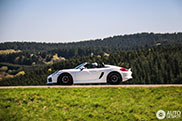 Porsche 981 Boxster Spyder enjoys the lovely roads in Nürburg