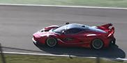 Ferrari FXX K in actie op Mugello Circuit