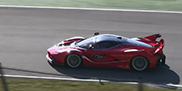 Ferrari FXX K in action on the track of Mugello