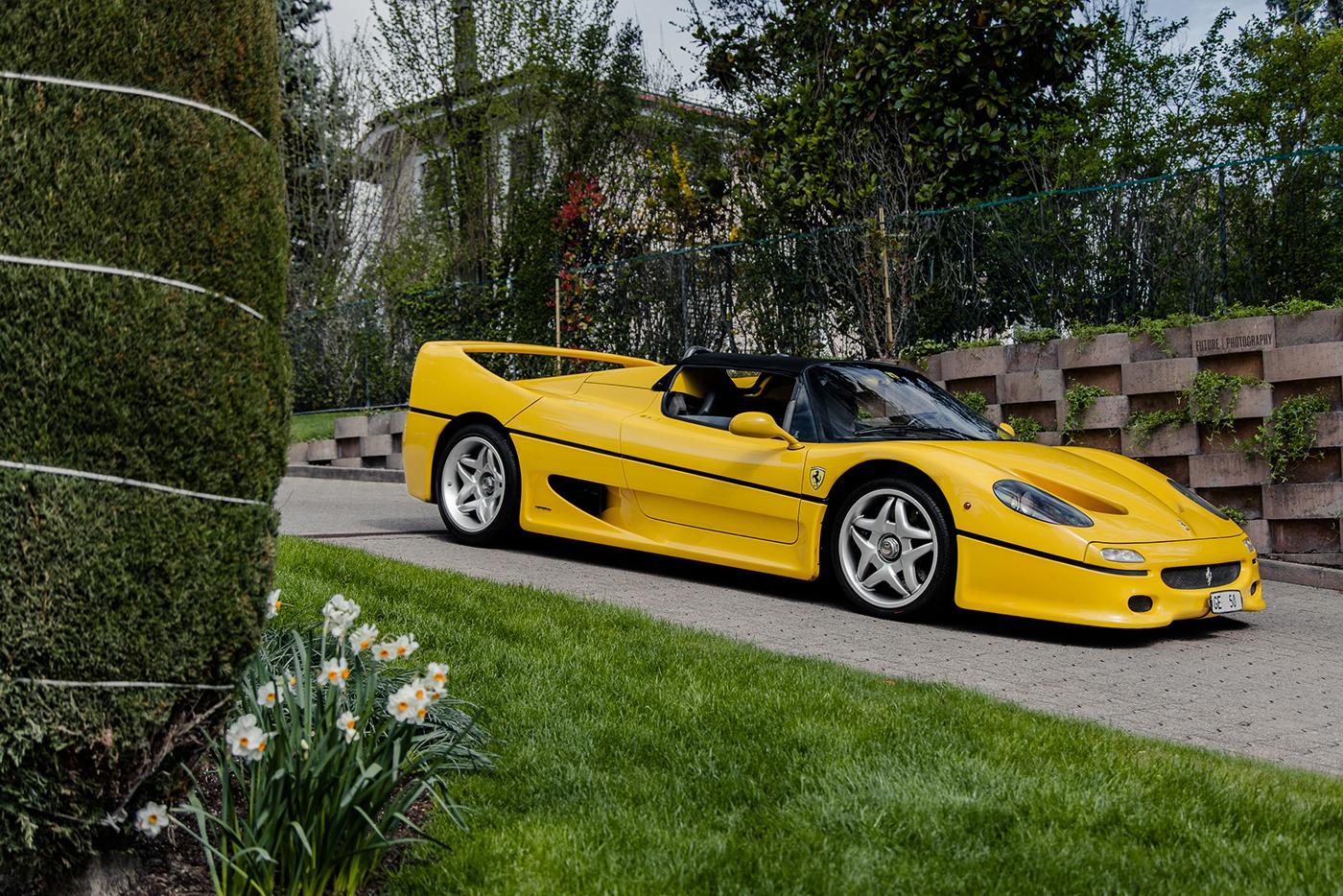 Yellow Color Combination Photoshoot Ferrari F50