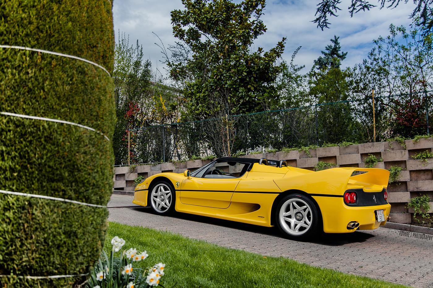 Yellow Ferrari F50