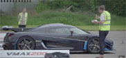 Watch how the Koenigsegg One:1 sets a new record at Vmax 200