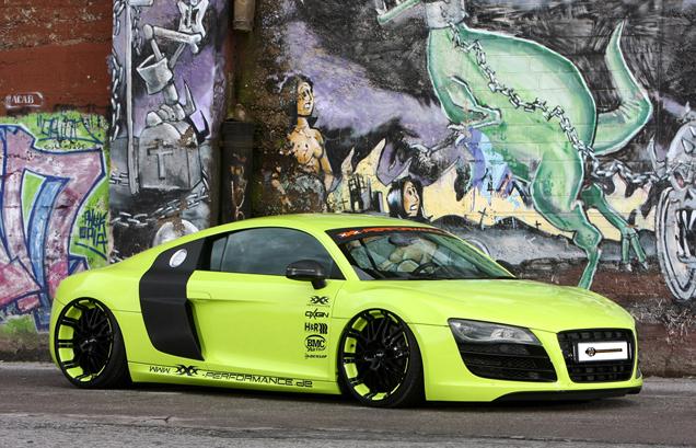 Groen en opvallend: Audi R8 V10 door XXX-Performance