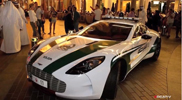 Police cars of Dubai shining in the following movie