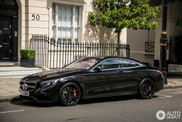 Sinister looking Mercedes-Benz S 65 Coupe in London