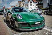Prachtige groene Porsche 991 GT3 RS gespot