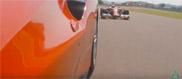 Movie: Ferrari F14T versus the Ferrari 488 GTB