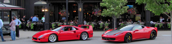 ferrari f40 and 458 italia shine together in columbus ohio. Black Bedroom Furniture Sets. Home Design Ideas