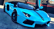 Chris Brown gives his Aventador a new look