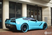 Chevrolet Office-K Corvette C7 Stingray is een hele dikke smurf