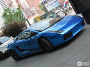 Blauwe Gallardo Superleggera is typisch voor China