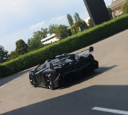 Lamborghini Veneno Roadsters shining in front of the factory