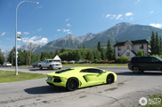 Lamborghini Aventador in Verde Scandal looks lovely