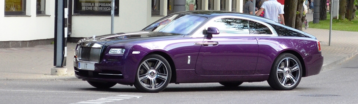 Beautiful Rolls-Royce Wraith spotted in Jūrmala
