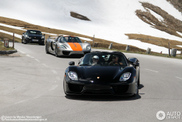 Vijf Porsche 918 Spyders bestormen de Großglockner