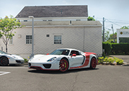 Unique Porsche 918 Spyder visits its competitors
