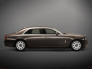 Rolls-Royce Ghost with panda logos
