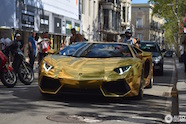 Amerikaanse Lamborghini Aventador gespot in Barcelona