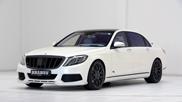Lekker hoor, witte Mercedes-Maybach Brabus 900 Rocket
