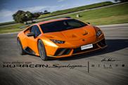 Rendering van de Lamborghini Huracán Superleggera