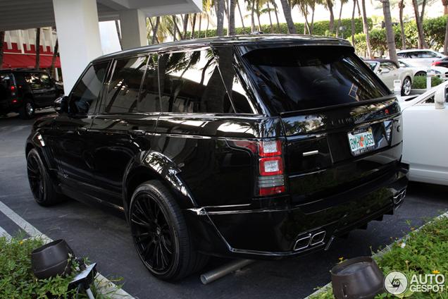 Badass Range Rover gespot! De CLR R door Lumma Design