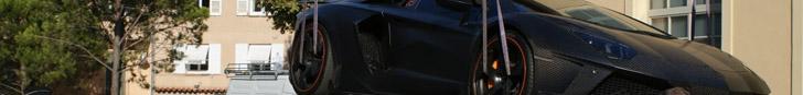 Lamborghini van Timati wordt weggesleept in Saint Tropez