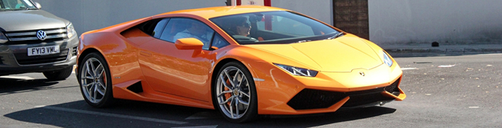 Finally an orange copy of the Lamborghini Huracán LP610-4 is spotted