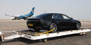 Aston Martin shows a pre production version of the Lagonda in Oman