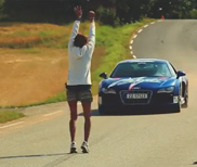Do something crazy, jump over an Audi R8 V10