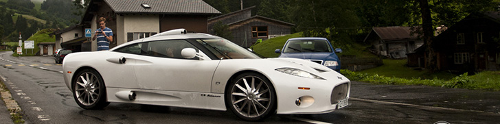 Surprise in the Swiss Alps: Spyker C8 Aileron