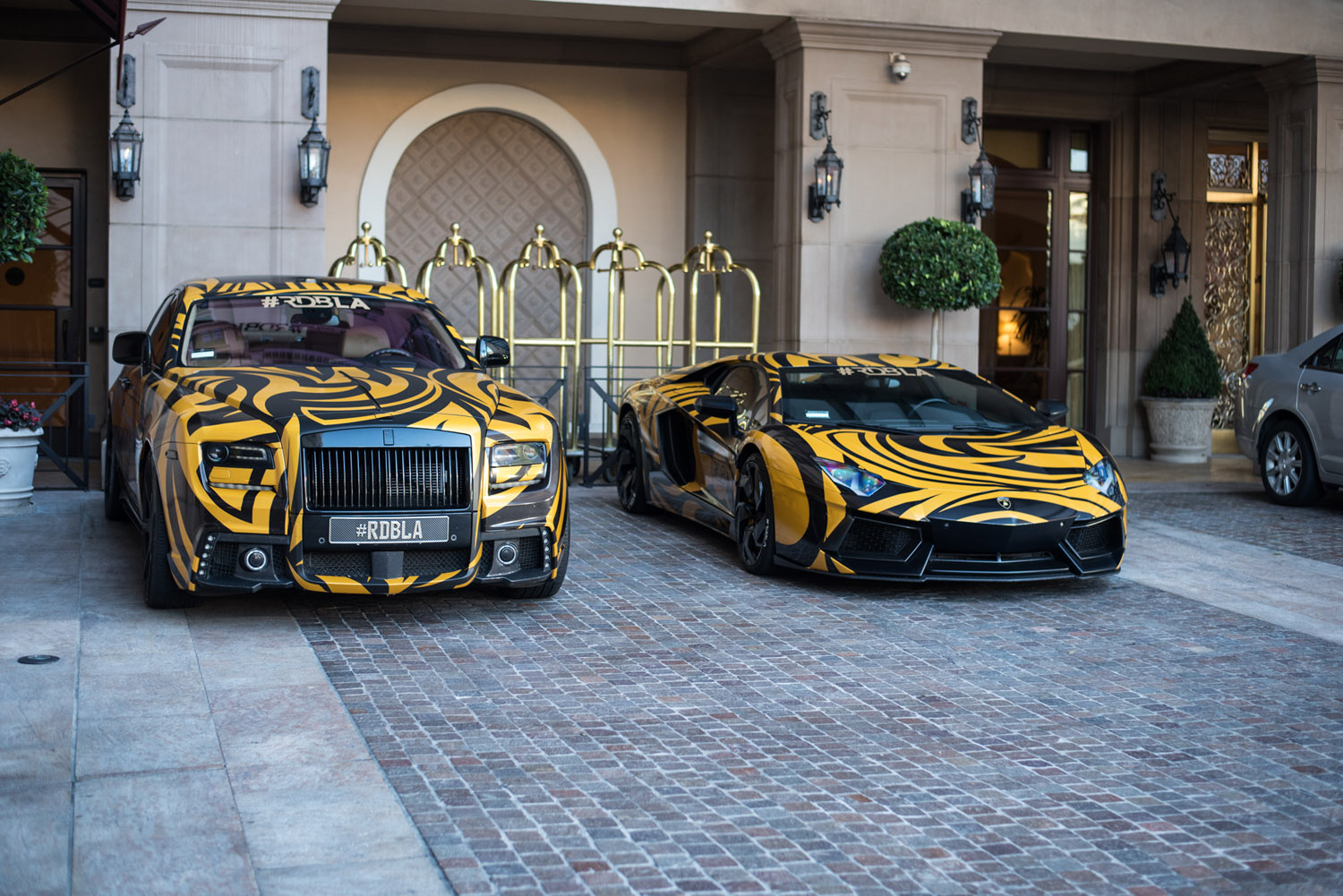 ... , Lambos and Bugattis on California plates around Beverly Hills