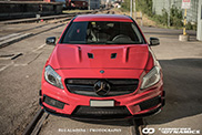 Mercedes-AMG A45 looking agressive with Boca Carbon hood