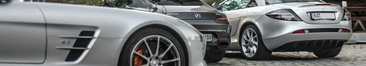 Combo: de drie generaties supercars van Mercedes-Benz