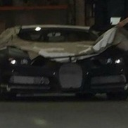 First sign of life of the Bugatti Chiron