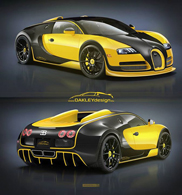 Net niet: Bugatti Veyron door Oakley Design