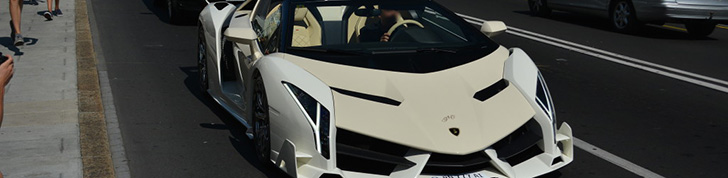 Lamborghini Veneno Roadster shows off in Geneva