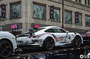 Porsche GT3 RS met 'schade' gespot