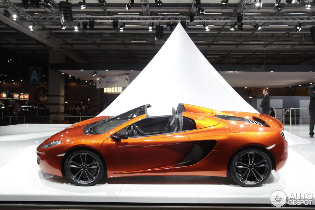 paris 2012 la mclaren mp4 12c spider. Black Bedroom Furniture Sets. Home Design Ideas