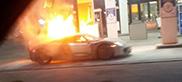 Porsche 918 Spyder ends up in flames