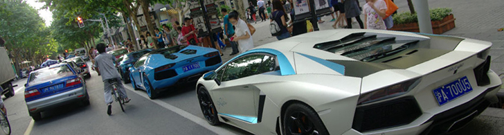 Lamborghini Aventador LP700-4 is in overvloed in China