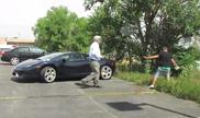 Filmpje: grap met Lamborghini loopt uit de hand