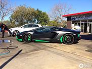 Groene details geven Aventador LP700-4 een catchy look