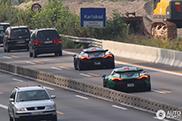 Amerikanen bezoeken de Duitse autobaan per McLaren P1