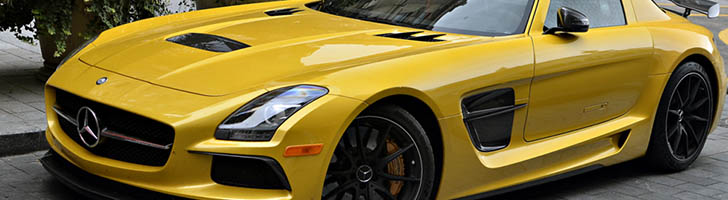 Traveling through Europe with a Mercedes-Benz SLS AMG Black Series