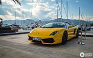 Lamborghini Gallardo gespot op een prachtige locatie in Tivat