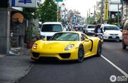 Gelber Porsche 918 Spyder gespotted in Taipei, Taiwan