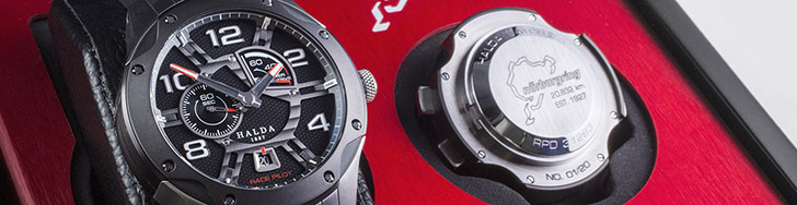 Perfectie: Nürburgring Race Pilot Limited Edition door Halda Watch