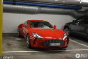 Red Aston Martin One-77 is a joy for the eye