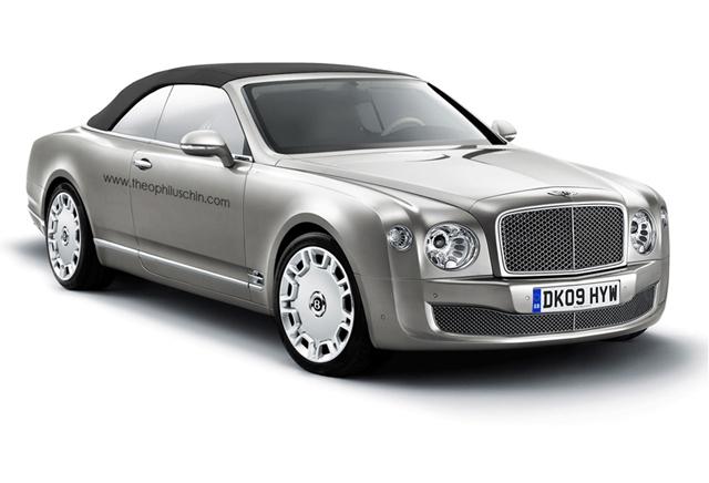 Lekker open rijden: rendering van de Bentley Mulsanne Cabriolet