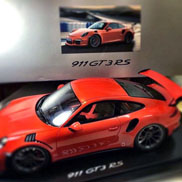 Dit is de Porsche 991 GT3 RS in de kleur Java Orange
